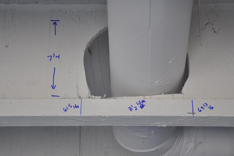 Water Pipe Structures : Frozen water line damage to residential structure