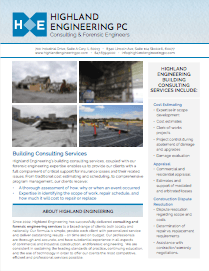 Highland Engineering Building Consulting Services